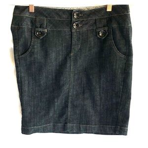 Boom Boom Blue Jean Denim Skirt L EUC